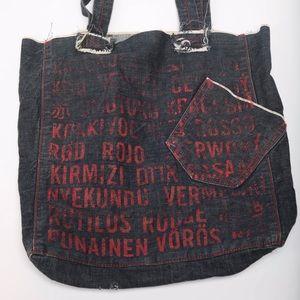 GAP (RED) Denim Tote Bag Red and Blue
